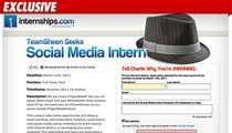 Charlie Sheen's Internship -- 74,040 Applications