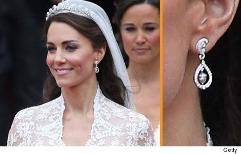 Kate Middletons Wedding Earrings Recreated toofabcom