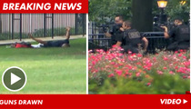 White House Fence Jumper -- The Armed Takedown