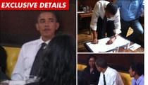 Obama's Burger Lunch -- GARGANTUAN Tip