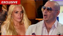 Lindsay Lohan Not Biting on Pitbull's VMA Invitation