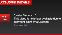Justin Bieber Music Videos -- Disappear From YouTube