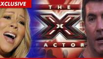 Mariah Carey -- Hurricane RUINS Secret 'X-Factor' Plans