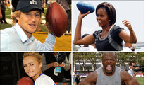 Famous Football Fans -- The Pigskin Pictures!