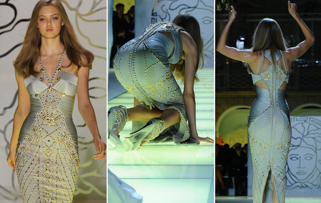 Versace Model Eats Catwalk -- And It's Not the First Time!