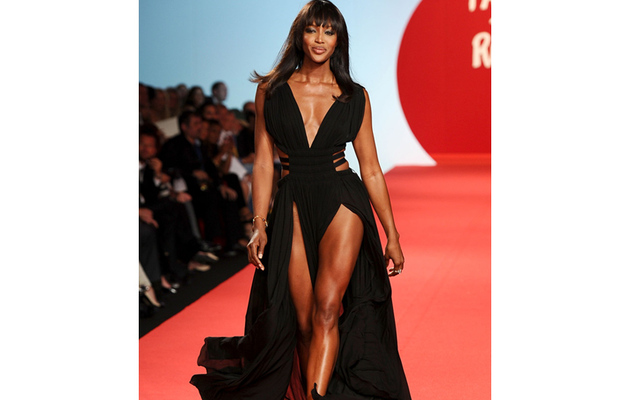 Model Falls During Naomi Campbell's Celeb Runway Show