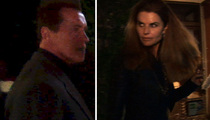 Arnold Schwarzenegger and Maria Shriver -- Dinner and a Show ... For the Cameras