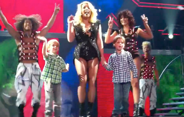 Britney Spears' Sons Make Surprise Concert Appearance