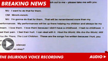 "Michael Jackson's Slurred Speech: ""I Had No Childhood"" [Audio]"