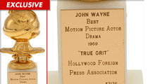 John Wayne -- Golden Globe for 'True Grit' Sold at Auction