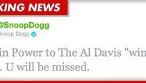 "Snoop Dogg to Al Davis -- ""Rest in Power"""
