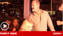 Kelsey Grammer Meats with His Children