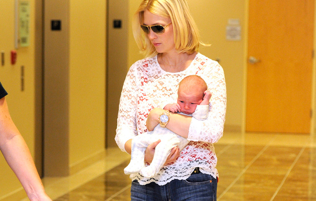 January Jones: First Sighting of Baby Xander!
