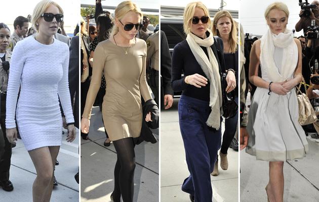 Lindsay Lohan's Courthouse Fashions