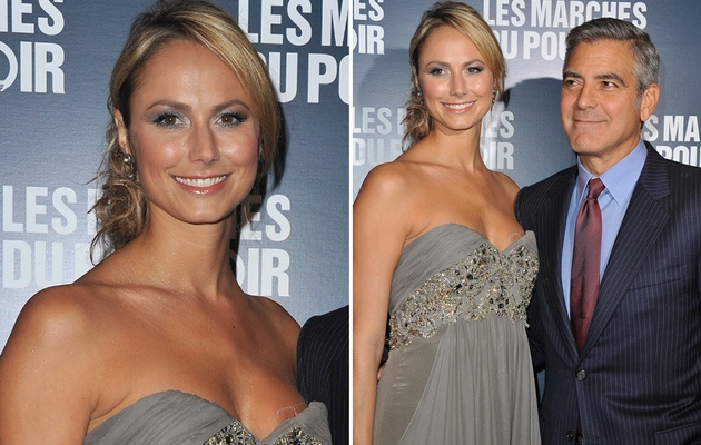 George Clooney's Girlfriend Stacy Keibler Suffers Wardrobe Malfunction