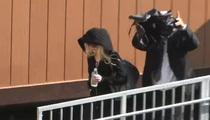 Lindsay Lohan -- Fleeing the Morgue