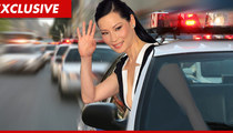 Lucy Liu -- Bulletproof Vest for LAPD Tour of Inner City