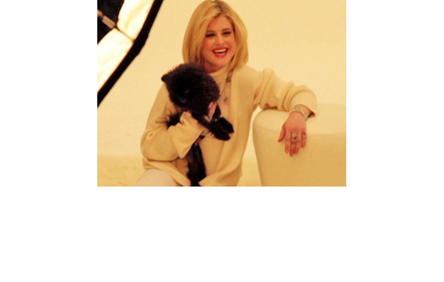 Kelly Osbourne's Photo Shoot with Cute Pooch