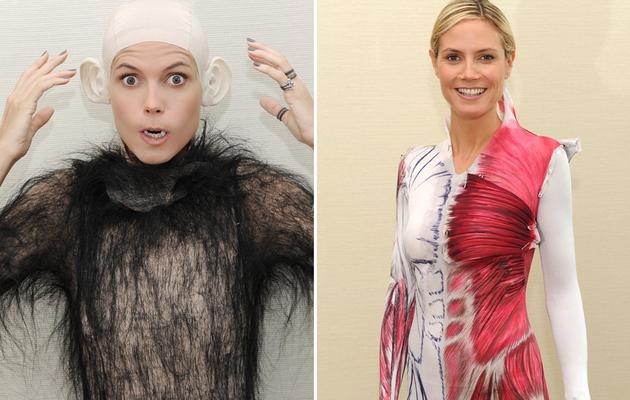 Heidi Klum: Bald and Hairy on Halloween