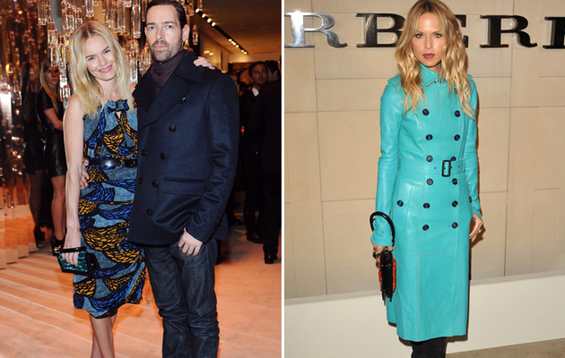 Kate Bosworth Cozies Up to Her Man at Burberry Launch With Rachel and Rosie