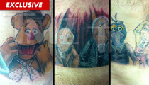WWE Star Hornswoggle -- Follows Through on His Muppet Tattoo Promise
