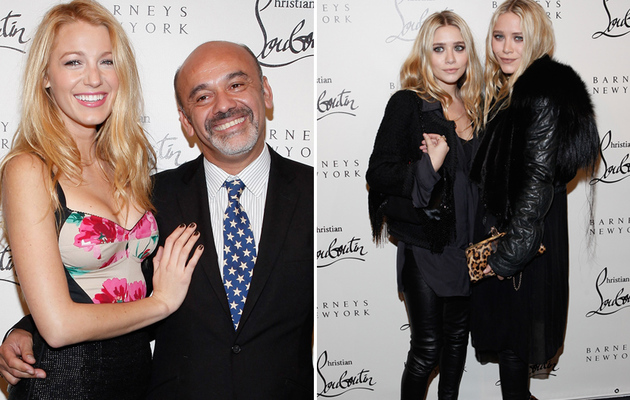 Blake Lively and Olsen Twins Attend Louboutin Launch