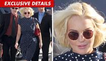 Lindsay Lohan Arrives ... With Food Poisoning