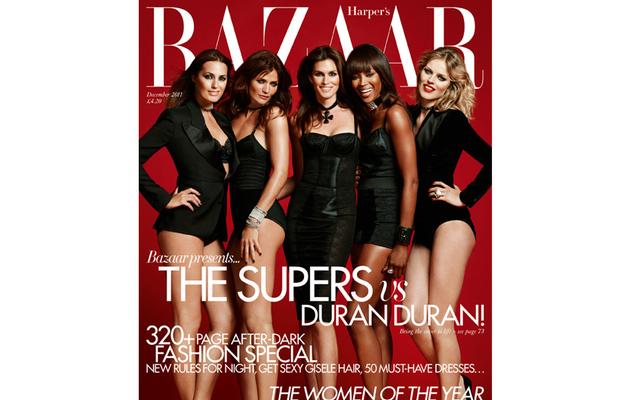 Cindy! Naomi! Helena! Supermodels Rock Harper's Bazaar U.K.