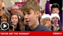 Justin Bieber Slams Alleged Baby Mama -- 'I'm Never Gonna Be a Victim'