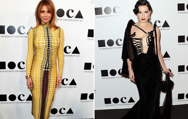 MOCA Gala: Rosanna and Dita's Dueling Daring Dresses