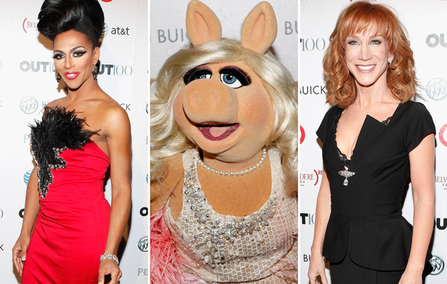 Miss Piggy Parties with Drag Queens, Kathy Griffin