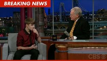 Justin Bieber to David Letterman: I Could Smell a Weasel