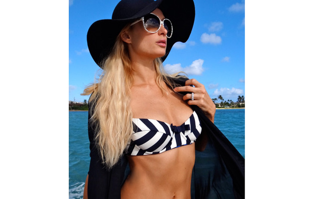 Paris Hilton Tweets Out Sexy Bikini Photos