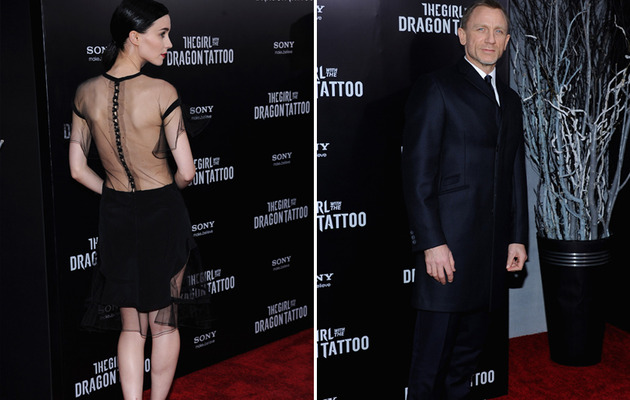 "Rooney Mara Shows Some Skin at NY ""Dragon Tattoo"" Premiere"