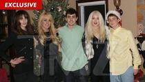 Lindsay Lohan & Family Christmas Photo -- Guess Who's Missing?