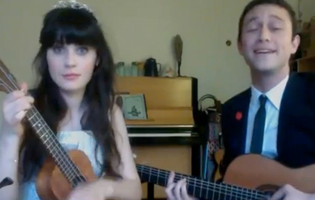 Zooey Deschanel & Joseph Gordon-Levitt Reunite!