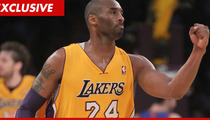 Kobe Bryant Takes Shot to the Wrist