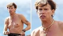 Steven Tyler -- Topless in Maui