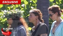 Steven Tyler & Fiancee -- Big Kahuna Blessed Our Hawaiian Home