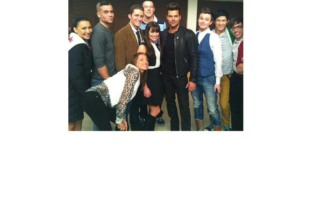 """Ricky Martin on """"Glee"""" -- See First Set Pics!"""