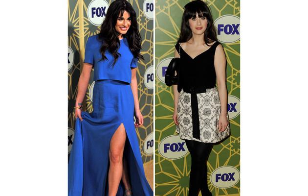 Lea Michele Shows Major Leg on Red Carpet