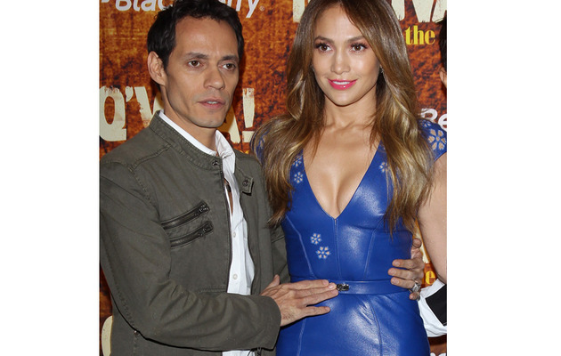 Jennifer Lopez & Marc Anthony Get Affectionate in L.A.