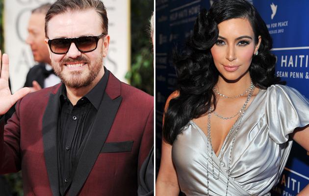 Ricky Gervais Blasts Kim Kardashian In Globes Monologue