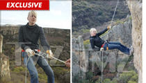 Anna Faris -- Hanging by a Thread Off MASSIVE Cliff