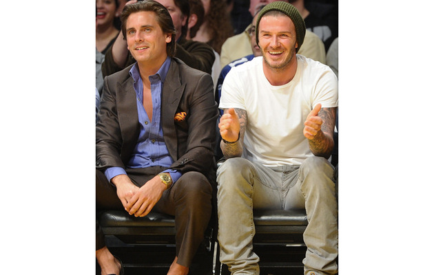 David Beckham and Scott Disick Courtside at the Lakers Game