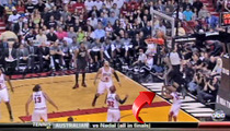 LeBron James -- HE JUST JUMPED OVER A GUY!!!!