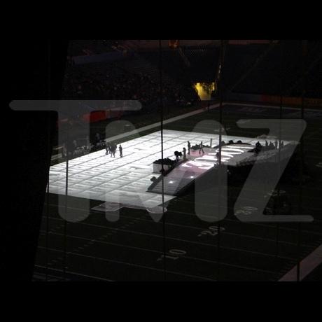 Super Bowl Halftime Stage