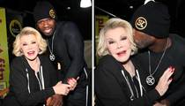 Joan Rivers -- Lip Smacked by 50 Cent
