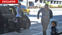 Jennifer Lopez's Kid -- Escape FOILED By Fleet-Footed Bodyguard