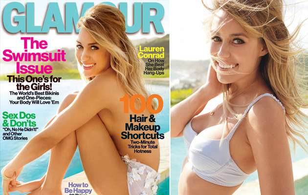 Lauren Conrad Goes Topless For Glamour Cover